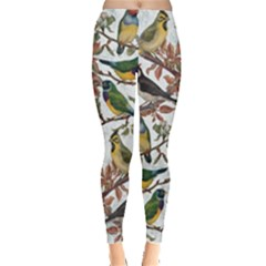 Vintage Birds Leggings  by Valentinaart