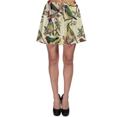 Vintage Birds Skater Skirt by Valentinaart