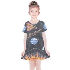 Space Kids  Simple Cotton Dress by okhismakingart