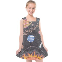 Space Kids  Cross Back Dress by okhismakingart