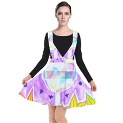 Artificial Substitution Plunge Pinafore Dress by okhismakingart