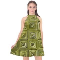 Electric Field Art Vi Halter Neckline Chiffon Dress