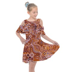Electric Field Art Xviii Kids  Shoulder Cutout Chiffon Dress by okhismakingart