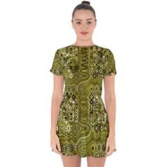 Electric Field Art Xix Drop Hem Mini Chiffon Dress