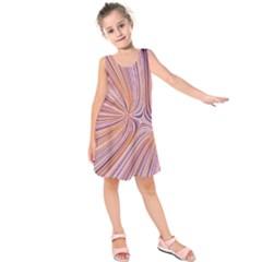 Electric Field Art Xxiv Kids  Sleeveless Dress by okhismakingart