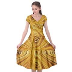 Electric Field Art Xxvi Cap Sleeve Wrap Front Dress by okhismakingart