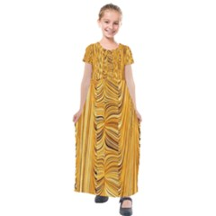 Electric Field Art Xl Kids  Short Sleeve Maxi Dress by okhismakingart