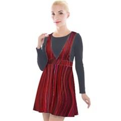 Electric Field Art Xli Plunge Pinafore Velour Dress by okhismakingart