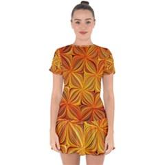Electric Field Art Xlv Drop Hem Mini Chiffon Dress