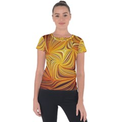 Electric Field Art Li Short Sleeve Sports Top
