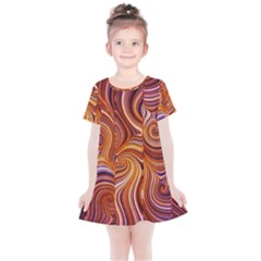 Electric Field Art Liii Kids  Simple Cotton Dress by okhismakingart