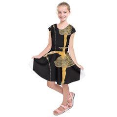 Pernis Champagne Kids  Short Sleeve Dress