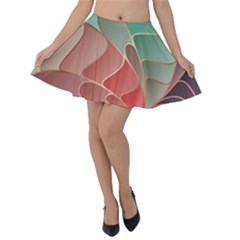 Modern Colorful Abstract Art Velvet Skater Skirt by tarastyle