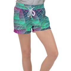 Modern Colorful Abstract Art Women s Velour Lounge Shorts by tarastyle