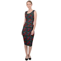 Roses Black Plaid Sleeveless Pencil Dress by snowwhitegirl