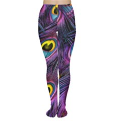 Peacock Feathers Purple Tights by snowwhitegirl
