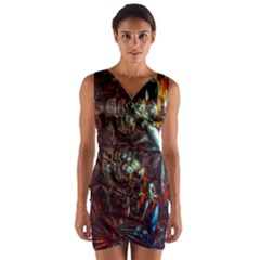 Chamber Of Reflection Wrap Front Bodycon Dress by okhismakingart