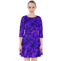 Queen Annes Lace In Blue And Purple Smock Dress by okhismakingart