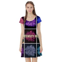 Floral Intensity Increases  Short Sleeve Skater Dress by okhismakingart