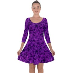 Queen Annes Lace In Purple Quarter Sleeve Skater Dress by okhismakingart