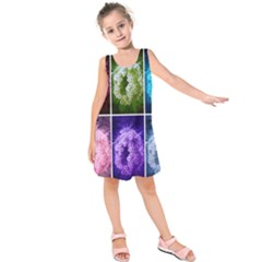 Closing Queen Annes Lace Collage (horizontal) Kids  Sleeveless Dress by okhismakingart