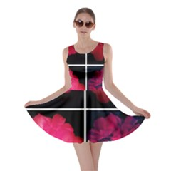 Geranium Collage Skater Dress