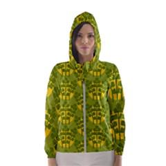 Texture Plant Herbs Green Women s Hooded Windbreaker by Mariart