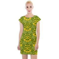 Texture Plant Herbs Green Cap Sleeve Bodycon Dress by Mariart