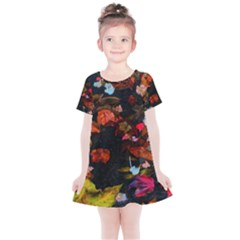 Leaves And Puddle Kids  Simple Cotton Dress by okhismakingart