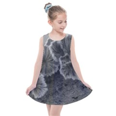 Tree Fungus Black And White Kids  Summer Dress by okhismakingart