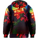 Neon Cone Flower Kids  Zipper Hoodie Without Drawstring View2