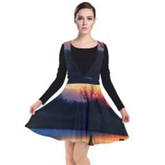 Pastel Sunrise Plunge Pinafore Dress by okhismakingart
