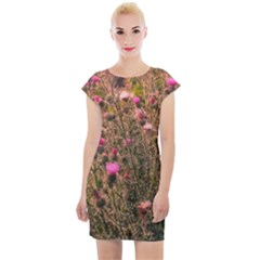 Thistle Field Cap Sleeve Bodycon Dress by okhismakingart