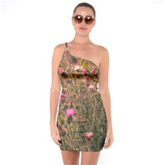 Thistle Field One Soulder Bodycon Dress by okhismakingart