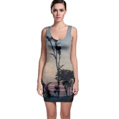 Hazy Thistles Bodycon Dress by okhismakingart