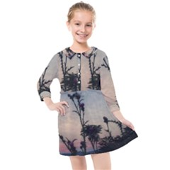 Hazy Thistles Kids  Quarter Sleeve Shirt Dress by okhismakingart