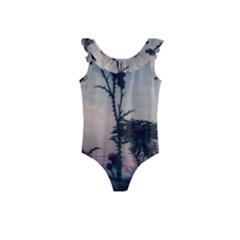 Hazy Thistles Kids  Frill Swimsuit by okhismakingart