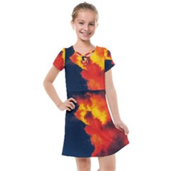 Ominous Clouds Kids  Cross Web Dress by okhismakingart