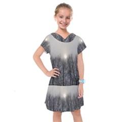 Foggy Forest Kids  Drop Waist Dress by okhismakingart