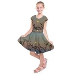 Moon And Thistle Kids  Short Sleeve Dress by okhismakingart