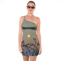 Moon And Thistle One Soulder Bodycon Dress by okhismakingart
