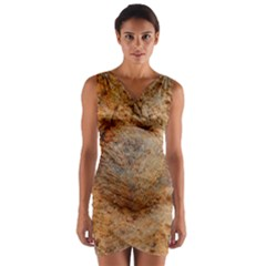Shell Fossil Ii Wrap Front Bodycon Dress by okhismakingart