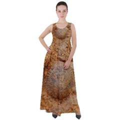 Shell Fossil Ii Empire Waist Velour Maxi Dress by okhismakingart