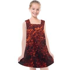 Red Goldenrod Kids  Cross Back Dress by okhismakingart