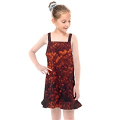 Red Goldenrod Kids  Overall Dress by okhismakingart