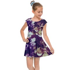Soft Purple Hydrangeas Kids  Cap Sleeve Dress by okhismakingart