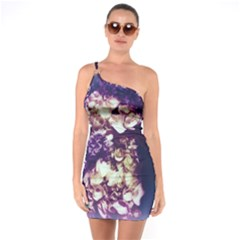 Soft Purple Hydrangeas One Soulder Bodycon Dress by okhismakingart