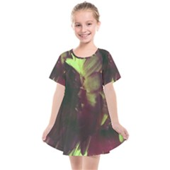 Green Glowing Flower Kids  Smock Dress by okhismakingart