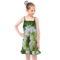 Green Closing Queen Annes Lace Kids  Overall Dress by okhismakingart