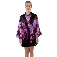 Purple Closing Queen Annes Lace Long Sleeve Kimono Robe